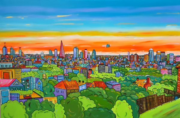 Futuristic View of London from my garden